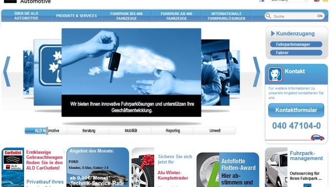 ALD Automotive, Homepage, Januar 2012