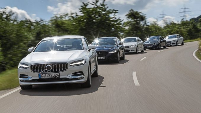 Audi A6, BMW 5er, Mercedes E-Klasse, Jaguar XF