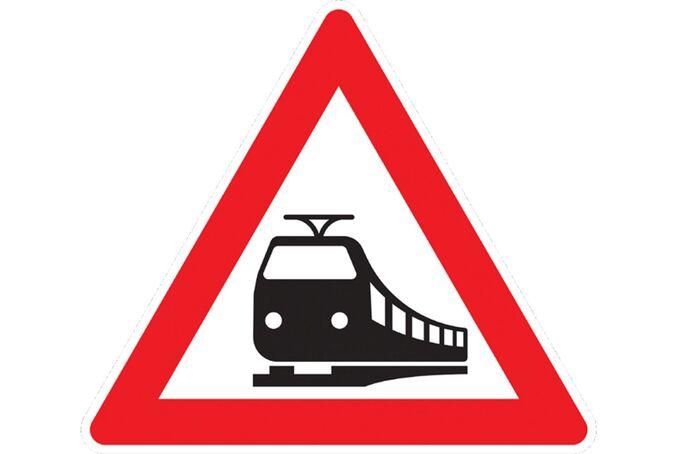 Bahnübergang Verkehrsschild