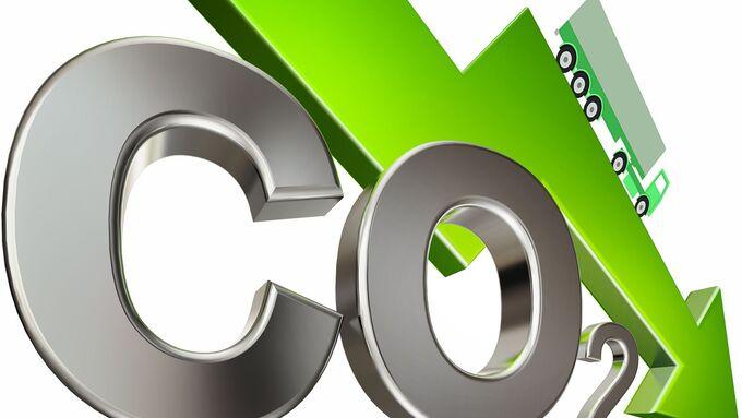 CO2, Lkw, Pfeil