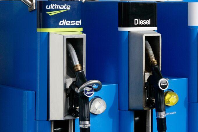 Diesel Zapfsäule Tankstelle