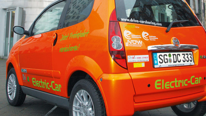 Electric-Car, drive-carsharing, e-mobil