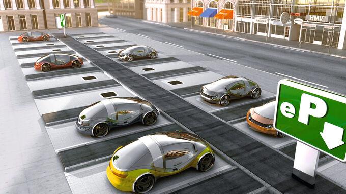 Induktives Laden für Elektroautos