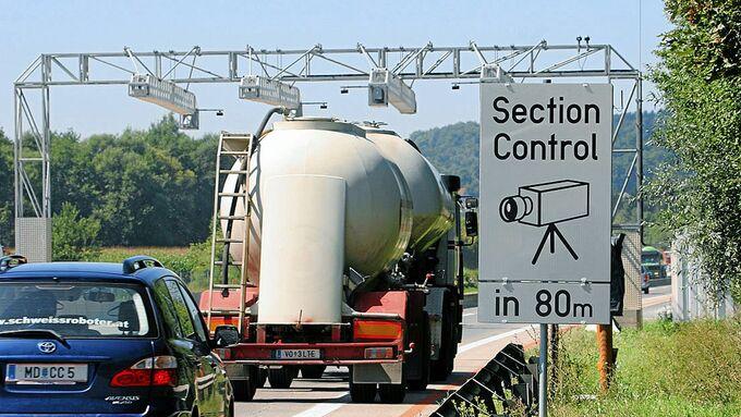 Section Control Autobahn Österreich Lkw Tempolimit