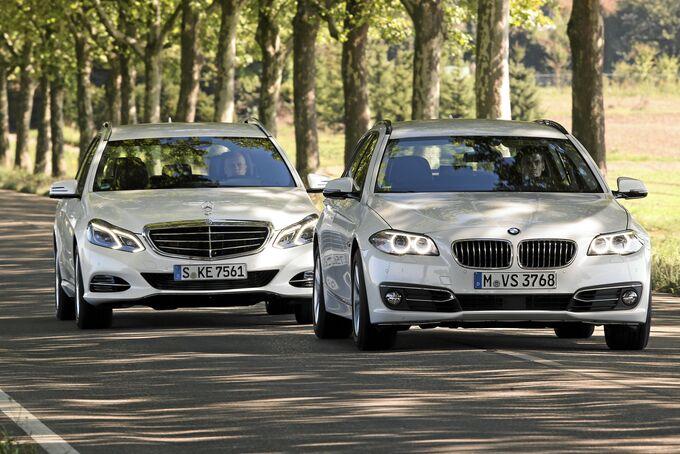 Vergleichstest BMW 520d, Mercedes E-Klasse