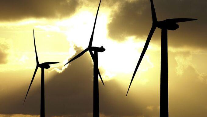 Windräder, Sonnenuntergang