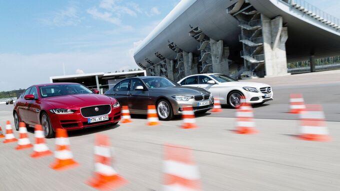 BMW 320d, Jaguar XE 20d, Mercedes C250d