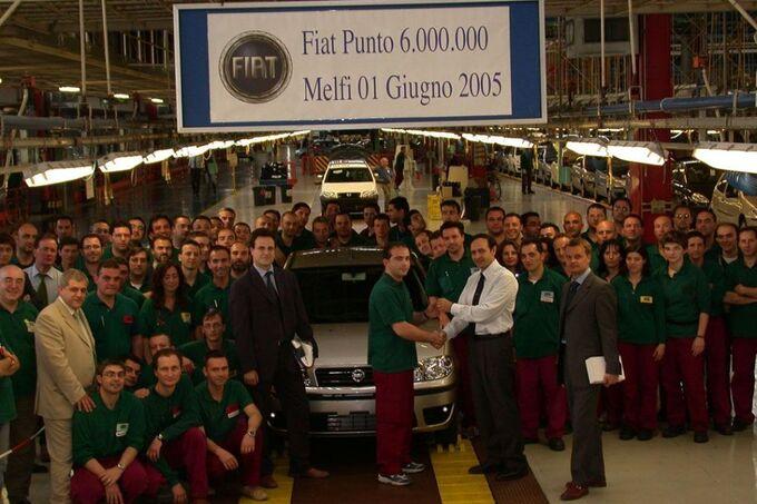 Bis 2005 wurden in Melfi sechs Miliionen Punto gebaut.