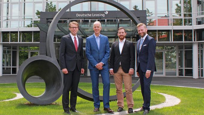 Deutsche Leasing, Frank Hägele (GF Dt Leasing Fleet), Hanno Boblenz (ChR firmenauto), Immanuel Schneeberger (firmenauto), Dr Hubertus Mersmann (GF Deutsche Leasing)