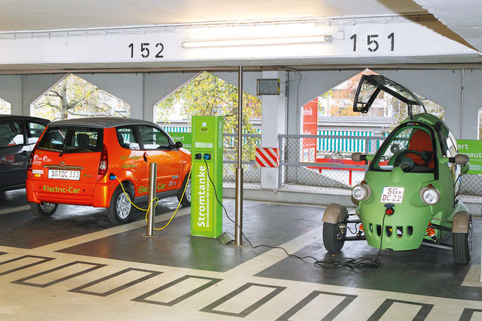 Electric-Car, drive-carsharing, e-mobil, Stromtanke