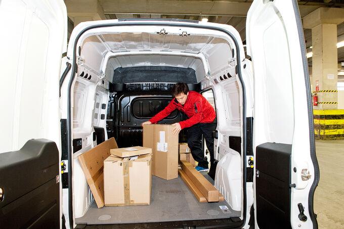 Fiat Doblò Cargo, Laderaum, Heck
