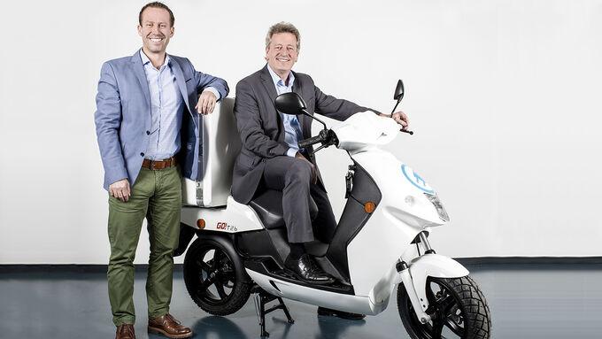 Gunter Glück von Lease Plan und Thomas Grübel von Govecs