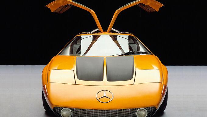 Historie Alternative Antriebe, Futuristisch: Mercedes C111 von 1970, Wankelmotor