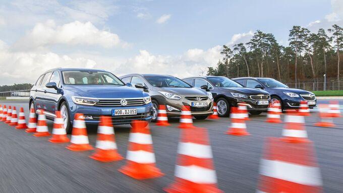 Hyundai i40, Opel Insignia ST, Peugeot 508 SW, VW Passat Variant
