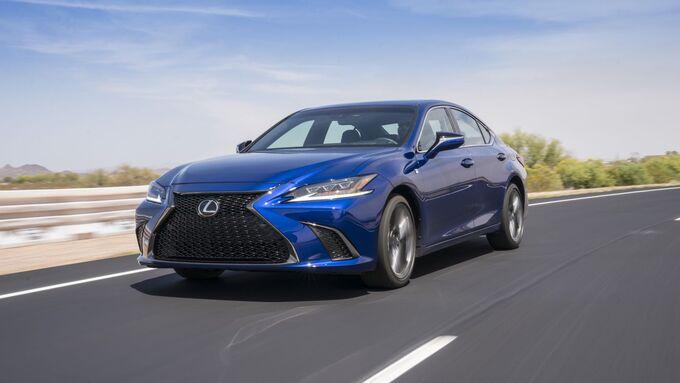 Lexus ES 2019, schräg, vorne, links, fahrend