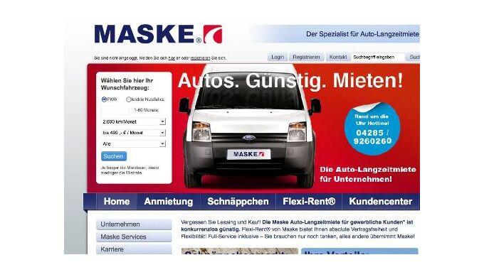 Maske Fleet: neuer Internetauftritt