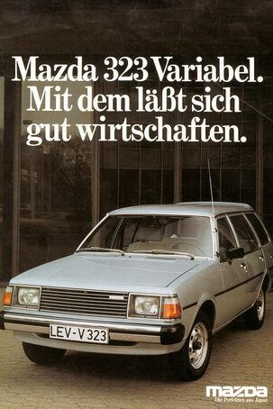 Mazda 323, Werbung