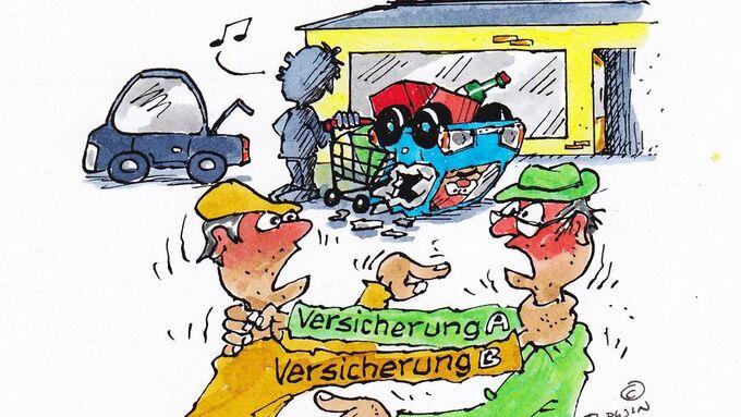 Parkplatzunfall, Schadenregulierung