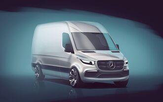Skizze gibt Vorgeschmack auf künftige Designsprache: Mercedes-Benz Vans enthüllt erste Details zum neuen Sprinter