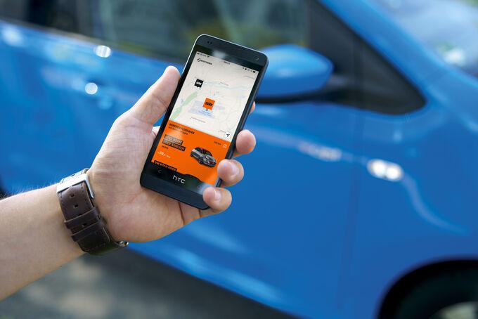 Smartphone Sixt Automiete Carsharing schlüsselloses öffnen