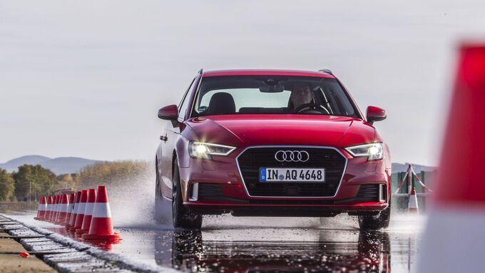 Sommerreifentest, Audi A3, 2018, Pylonen, Rennstrecke