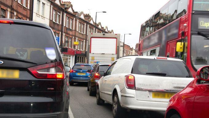 Stau Smog Luftverschmutzung England Großbritannien